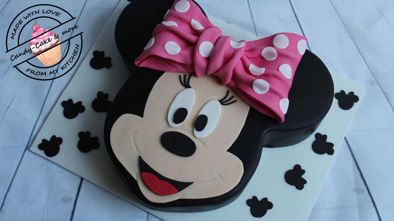 minnie mouse torte i motivtorte i minnie mouse cake i tutorial i micky mouse i walt disney youtube. Black Bedroom Furniture Sets. Home Design Ideas