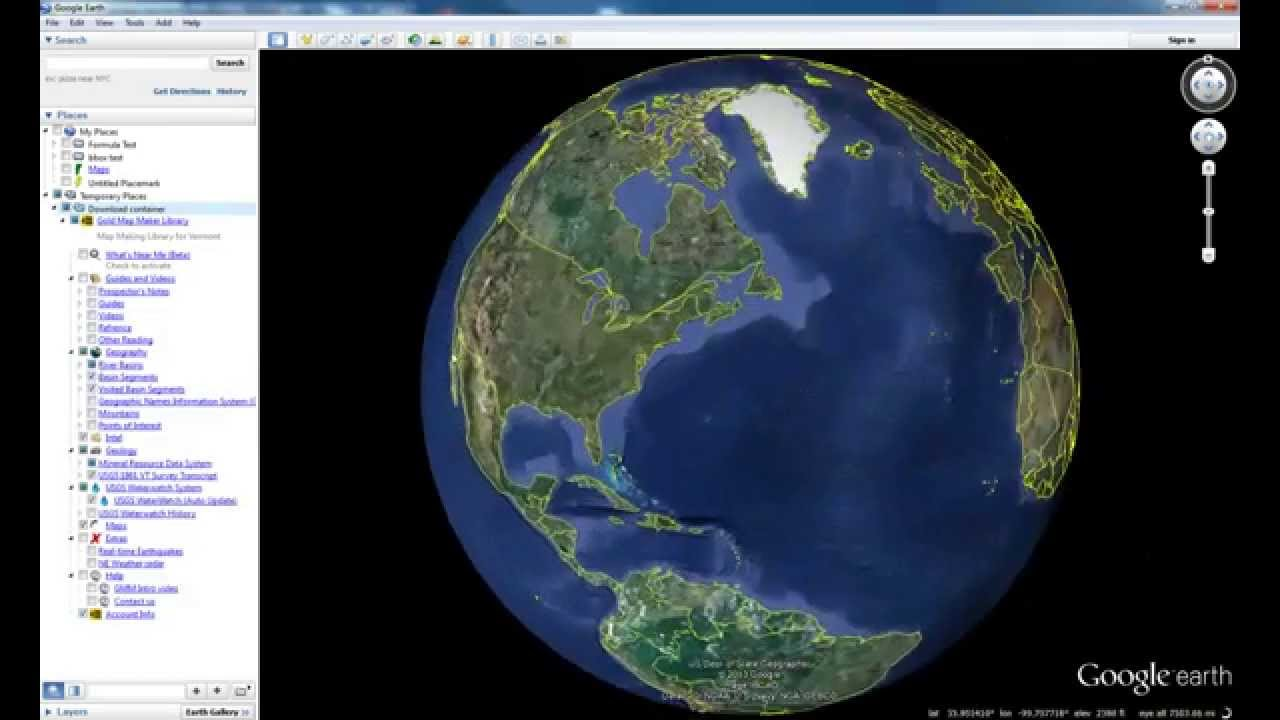 How to: Import Gold Map Maker to your Google Earth Places   YouTube