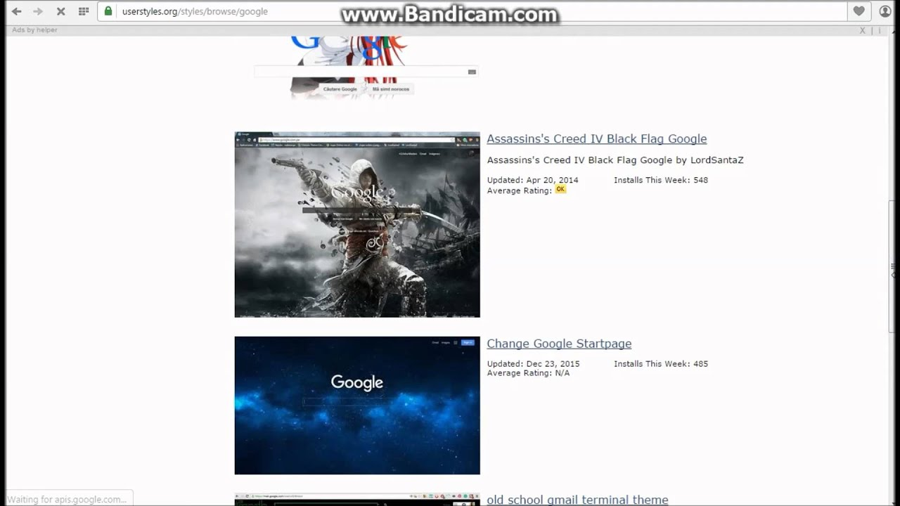Google themes youtube