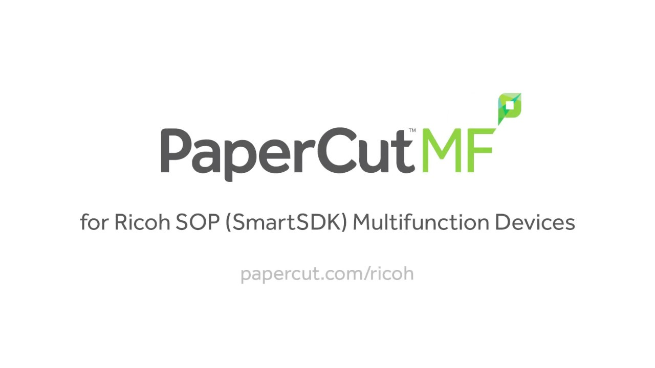 PaperCut MF - print, copy and scanning control for Ricoh MFPs