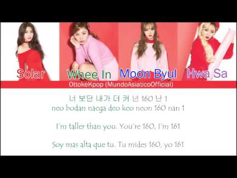 MAMAMOO(마마무)-Pride Of 1cm/Taller Than You  - Color Coded Lyrics + Han|Rom|Eng Sub|Sub Español