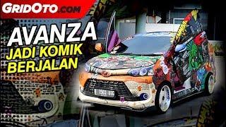 Toyota Avanza Veloz Dimodif Jadi Komik Berjalan dan Pakai Pintu Gunting