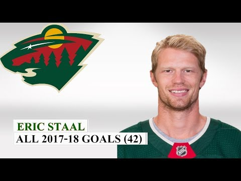 Eric Staal (#12) All 42 Goals of the 2017-18 NHL Season