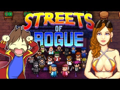 UN ROGUE-LIKE COMPLÈTEMENT OUF !!! -Streets Of Rogue- avec Bob & Jehal