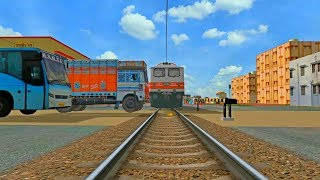 TRAIN TRUCK ACCIDENT 2018 || INDIAN TRAIN SIMULATOR