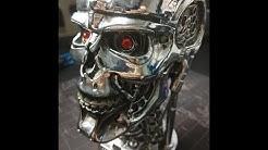 Terminator 2 T-800 Schädel - Deko Kopf von Nemesis Now - Head box