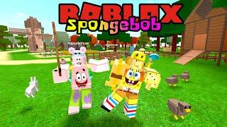 SPONGEBOB AND PATRICK BECOME FARMERS!! 😎🌾-ROBLOX Spongebob United Kingdom