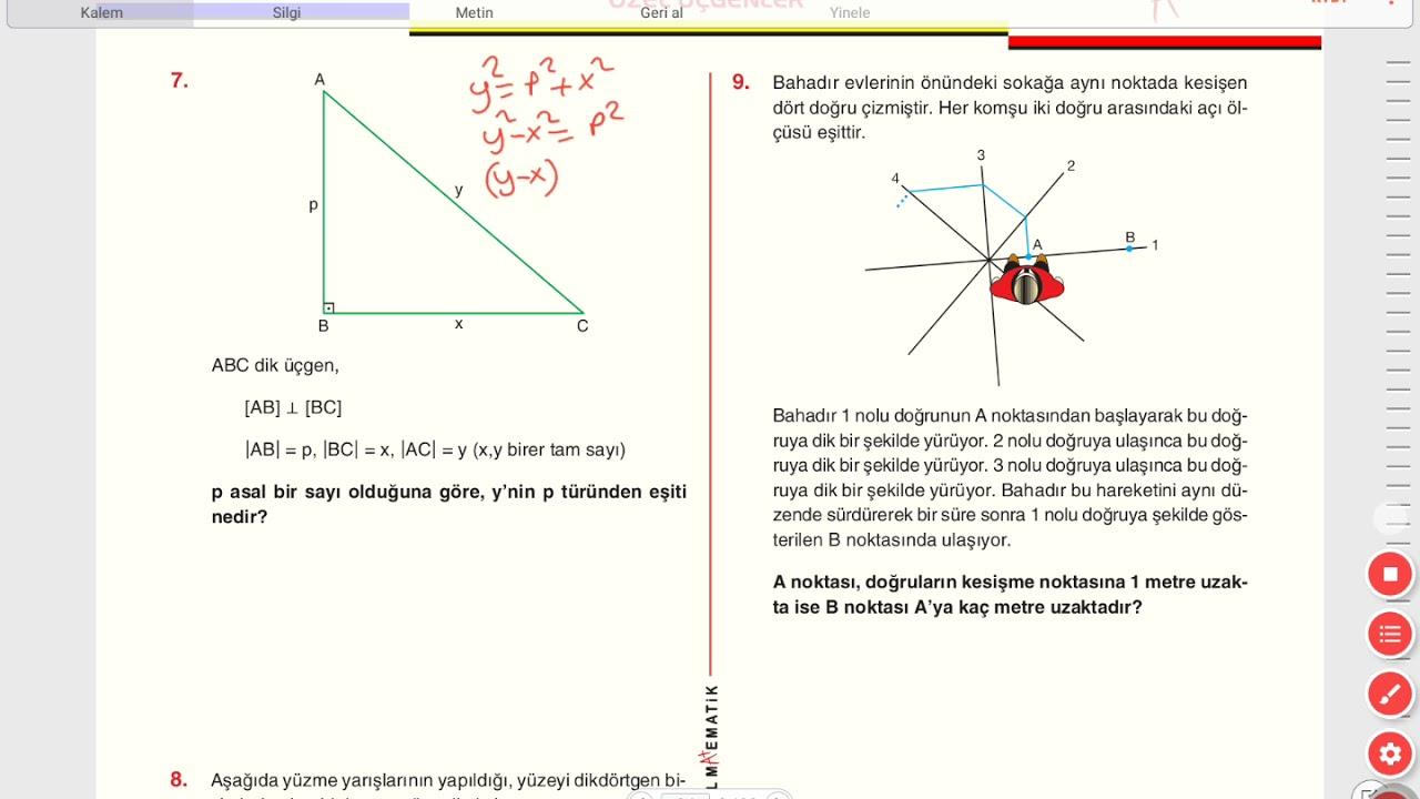 Ozel Ucgenler A1 Testi Sayfa 23 24 On Calisma Sorulari 1 Youtube