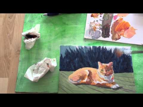 Malen mit Acryl: Katze (Teil 2/2)