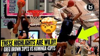 THESE HIGHLIGHTS ARE INSANE! Greg Brown 31Pts/20Reb VS Jonathan Kuminga 43Pts!