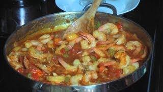 Camaron Enchilado - Shrimp Creole - Cuban