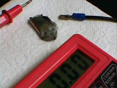 Zinc Carbon Ionic Liquid Mini-Battery/ 1.6V