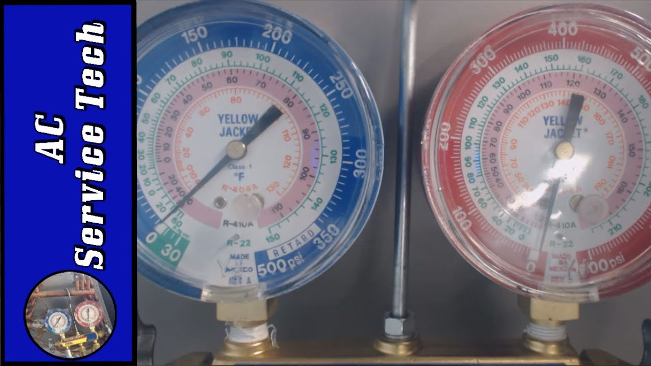 R 410a R 22 Refrigerants Checking The Charge Liquid