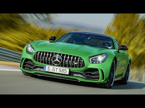 2017 Mercedes AMG GT R 585 HP - Full Throttle on Racetrack