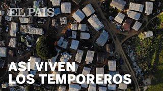 LEPE: La vida SIN AGUA y SIN LUZ en un campamento de TEMPOREROS
