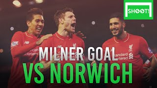 James Milner GOAL against Norwich | Norwich 3:4 Liverpool | 23.01.2016 | HD
