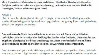 Universal Declaration of Human Rights in German and Afrikaans