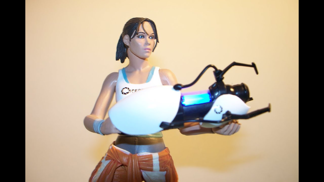 Neca Portal 2 Chell Video Game Action Figure Toy Review
