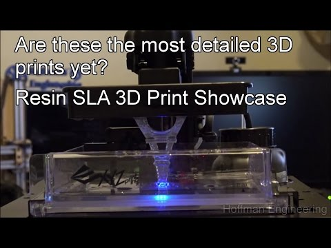 High Resolution 3D Prints with Resin 3D Printers - SLA Resin Print Showcase