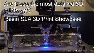 High Resolution 3D Prints With Resin 3D Printers - SLA Resin Print Showcase