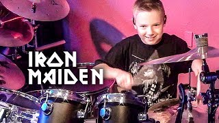 """Run to the Hills"" Avery Molek, 9 year old Drummer"