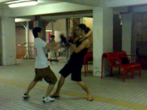 Alain Law Wing Chun Kung Fu-Students Basic FreeFight Practice 2.