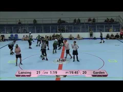ECDX 2015: Lansing Derby Vixens vs  Garden State Rollergirls