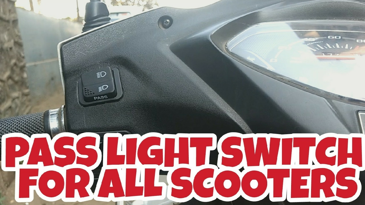medium resolution of how to install a pass light switch for all scooters honda activa 3g youtube