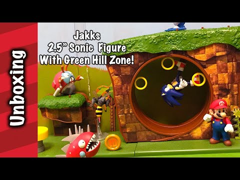 Jakks 2 5 Sonic Green Hill Zone Playset Unboxing Youtube