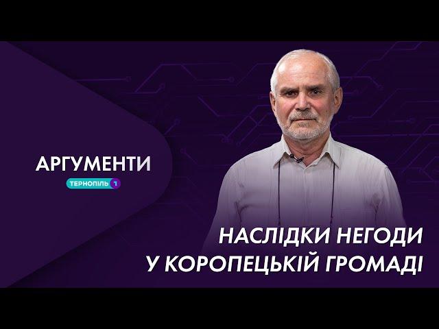 Наслідки негоди у Коропецькій громаді   Аргументи 26.07.2021