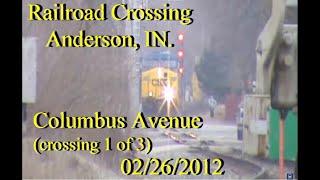 Railroad Crossing: Columbus Avenue, Anderson, IN. CSX Main Track 2