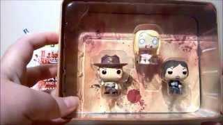 Baixar 3 x mini The walking dead vinyl pop funko figures in tin - The Weird One - (UK)
