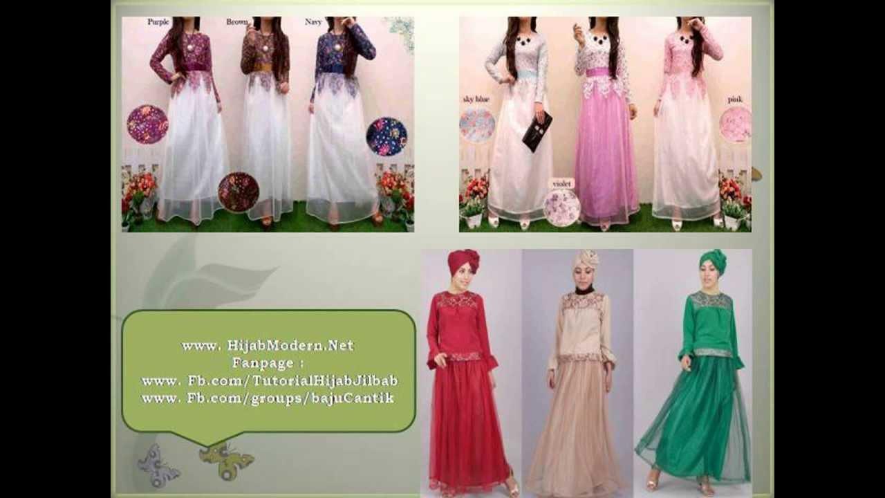 Baju Muslimah Gamis Pesta Brokat Remaja Gamis Brokat Pesta Youtube