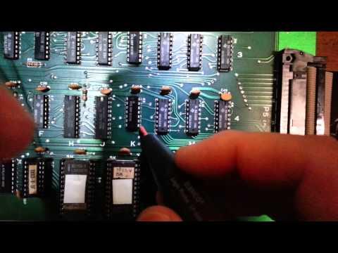 Donkey Kong Arcade Board PCB Repair  - Part 2