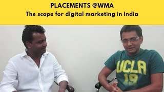 digital marketing career scope in india job placements with web marketing academy