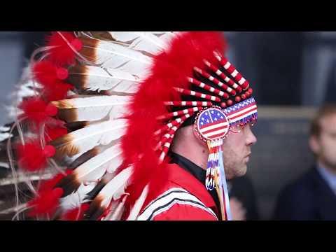 Native American Flag Ceremony in North Dakota Capitol - Jan. 17, 2019