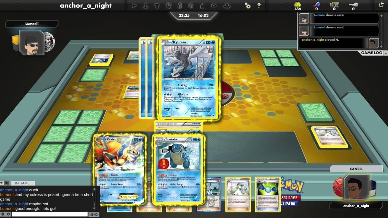 PTCGO Battle: Blastoise/Keldeo/Kyurem/Lugia vs. Herdier ...