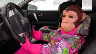 Monkey Driving in My Car - Funny story for kids