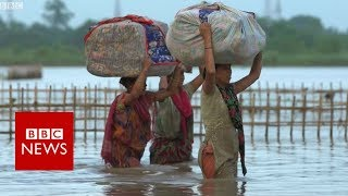 India floods: 'I'll have nothing if I leave my house' - BBC News