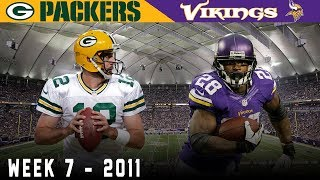 Perfect Packers Face Peterson! (Packers vs. Vikings, 2011) | NFL Vault Highlights