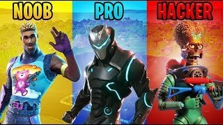 NOOB VS PRO VS HACKER (FORTNITE BATTLE ROYALE)