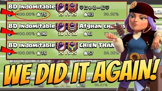 Hat-Trick Perfect War Another 100 War 25vs25 Perfect 3 Stars War Attacks - Clash Of Clans