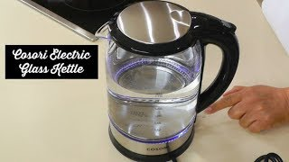 Cosori Electric Glass Kettle Review ~ Hot Water Kettle Unboxing ~ Amy Learns to Cook