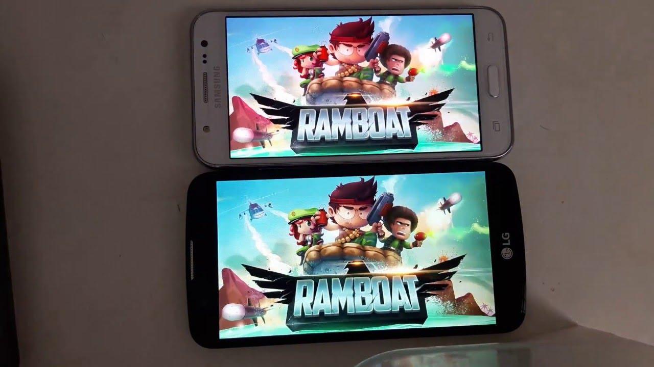 Lg K10 Vs Samsung Galaxy J5 Gameplay Game Test Youtube
