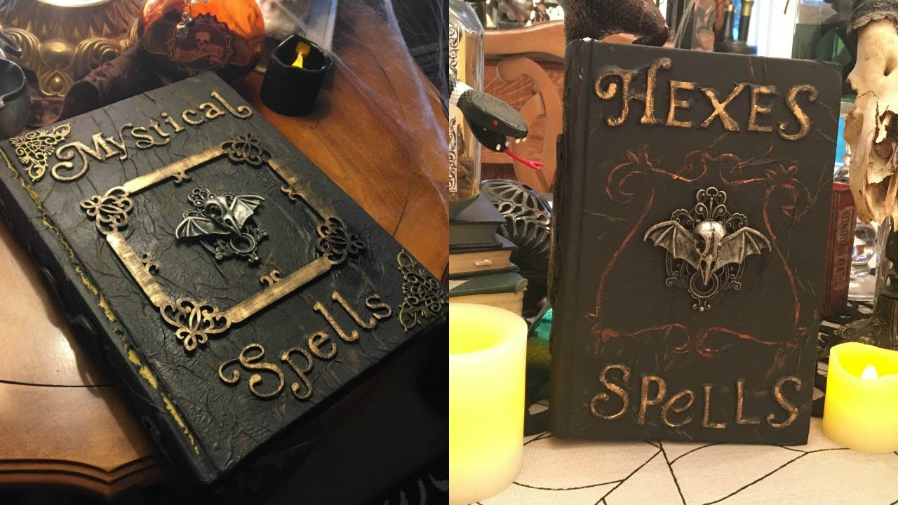 Book Of Shadows Cover Diy ~ How to make halloween spell books diy she s in her
