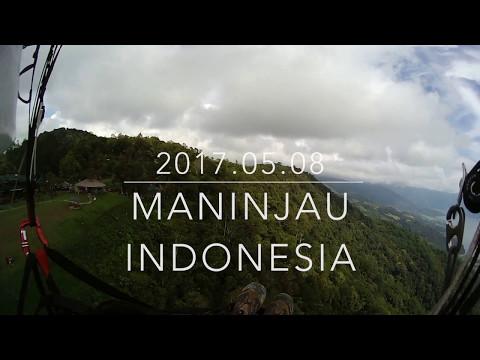 Paragliding in Maninjau, Indonesia Sumatra at 2017.05.08