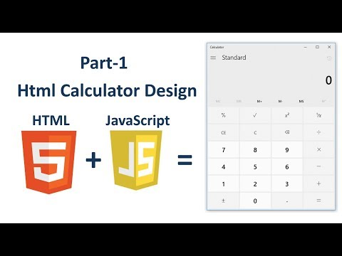 How To Create Calculator In HTML | JavaScript : Part-1