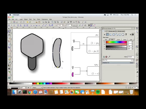 Creating and editing graphics in Inkscape