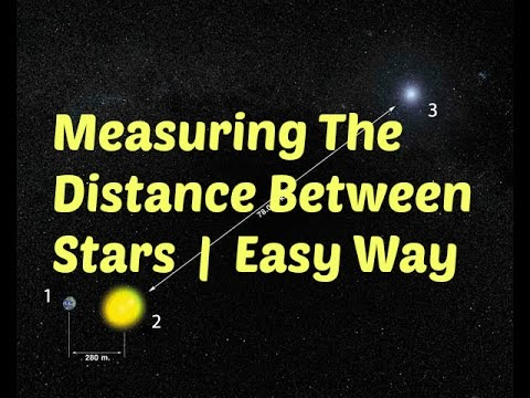the easy way to measure the distance between stars