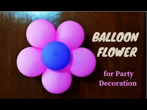 Balloon flower balloon decoration ideas for birthday for Balloon decoration ideas youtube